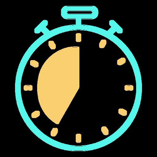 Trazo de icono de temporizador de cronómetro analógico