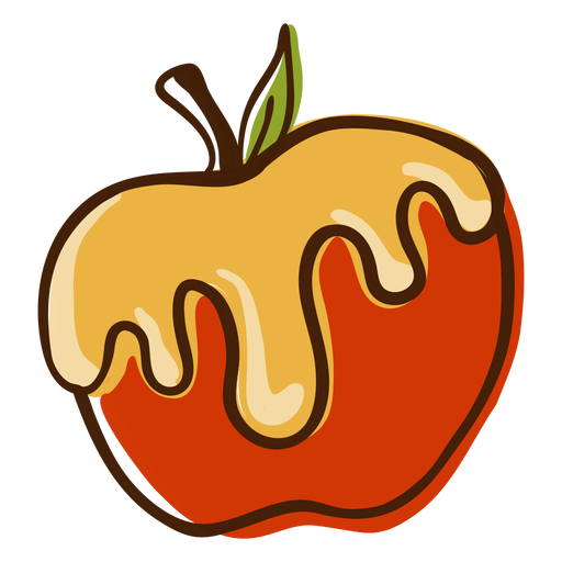 Apple honey hand drawn Transparent PNG