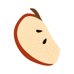 Apple slice textured illustration