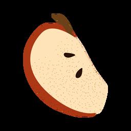 Ilustración con textura de rodaja de manzana