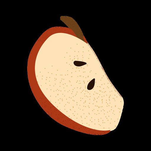 Apple slice textured illustration Transparent PNG