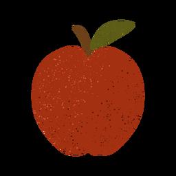 Ilustración con textura de manzana