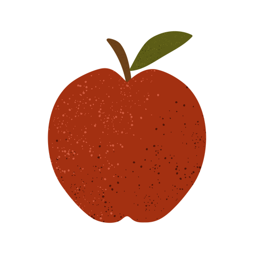 Apple textured illustration Transparent PNG