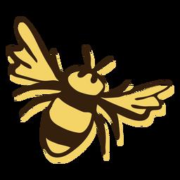 Biene fliegende Hand gezeichnet