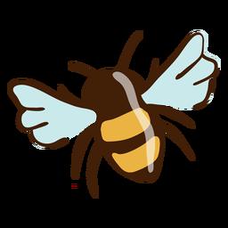 Biene hebt Hand gezeichnet hervor