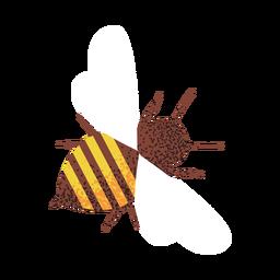Ilustración de abeja con textura