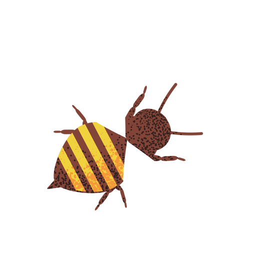 Bee illustration textured Transparent PNG