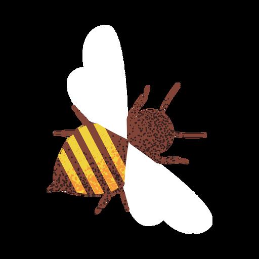 Bee illustration textured