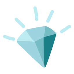 Blue diamond icon flat