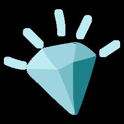 Icono de diamante azul plano
