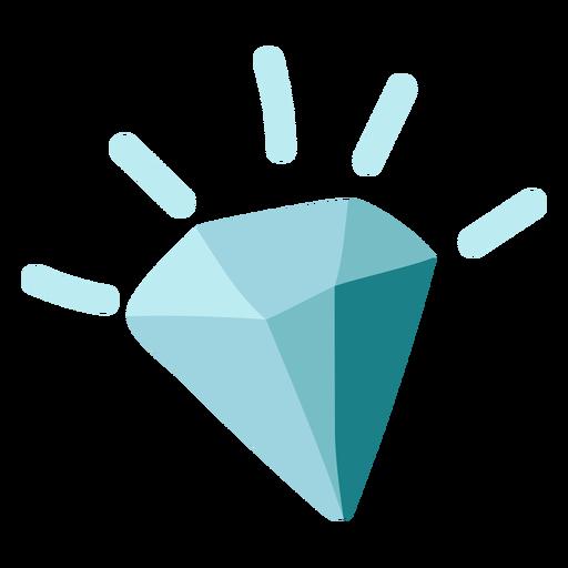 Blue diamond icon flat Transparent PNG