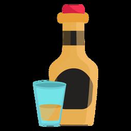 Ilustración de copa de botella plana