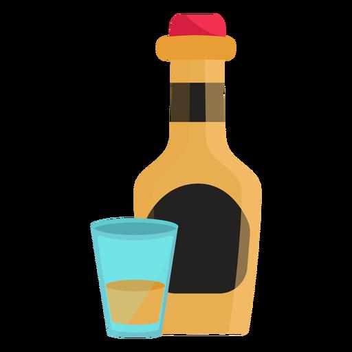 Ilustración de taza de botella plana