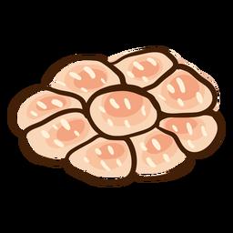 Dibujado a mano pan jalá