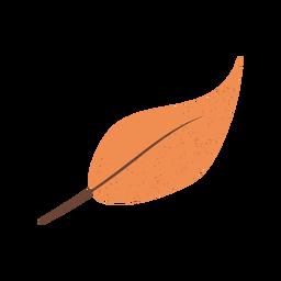 Ilustração texturizada de folha marrom
