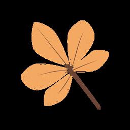 Brown plant leaflet textured illustration