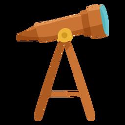 Brown telescope icon flat