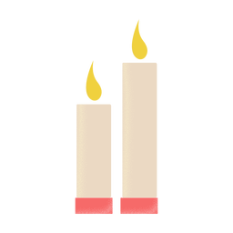 Ícone de ilustração de velas plana