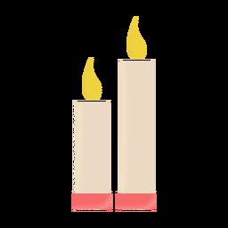 Icono de ilustración de velas plana