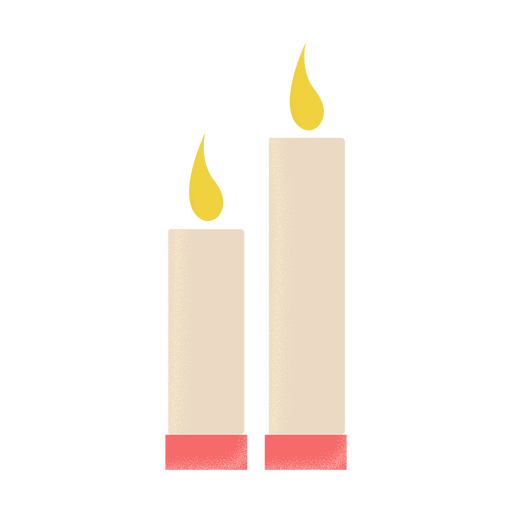 Candles illustration icon flat Transparent PNG