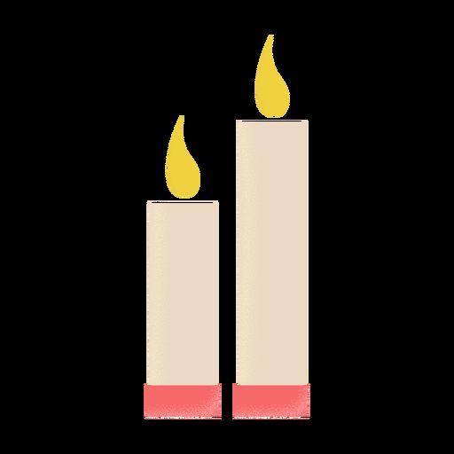 Candles illustration icon flat