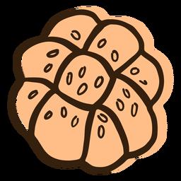 Challa-Brot Hand gezeichnet