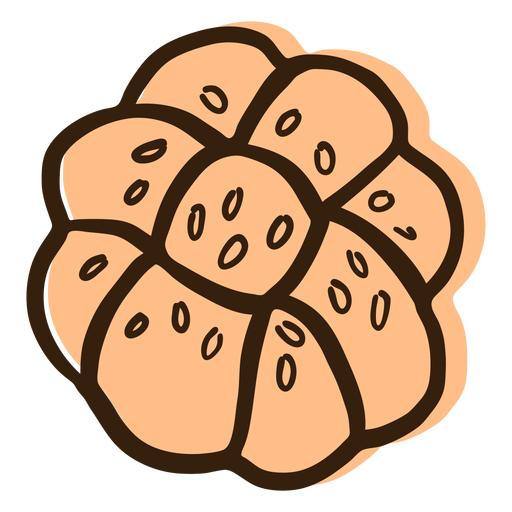 Challah bread hand drawn Transparent PNG
