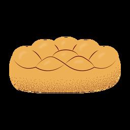 Ilustración de pan Jalá con textura