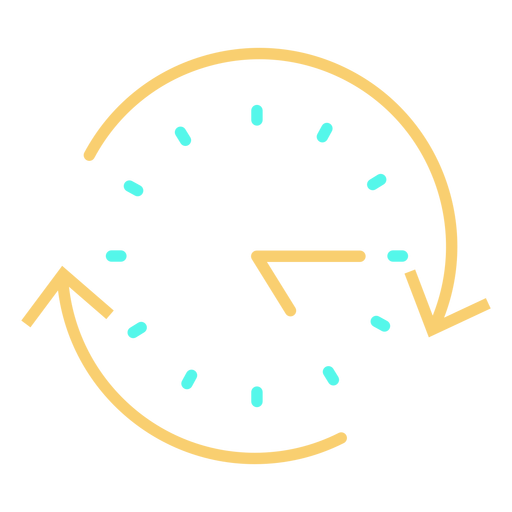 Circular arrows analog clock stroke icon Transparent PNG