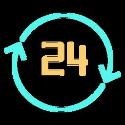 Ícone de setas circulares número 24