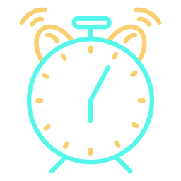Classic analog alarm clock ringing icon