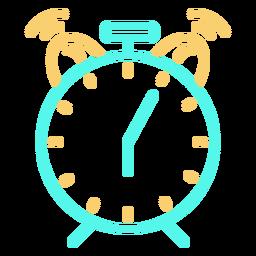 Icono de llamada de reloj despertador analógico clásico