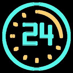 Reloj digital 24 trazo de icono