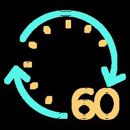 Reloj icono de tiempo reloj
