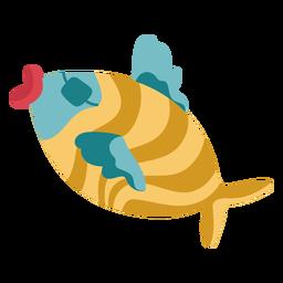Colorido pez parche