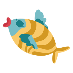 Peixe de tapa-olho colorido