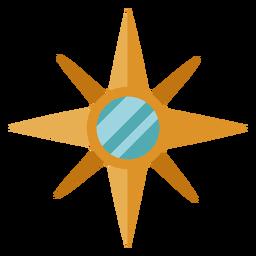 Kompassstern Illustration flach
