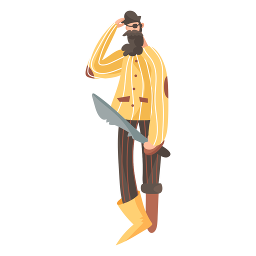 Confused pirate standing Transparent PNG