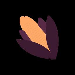 Ilustração de sabugo de milho plana