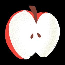 Cut apple illustration textured