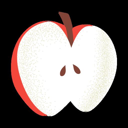 Cortar la ilustración de manzana con textura