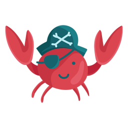 Cute crab pirate eyepatch