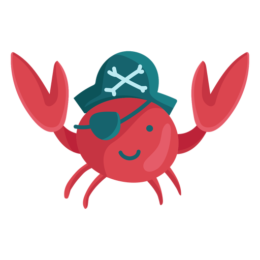 Cute crab pirate eyepatch
