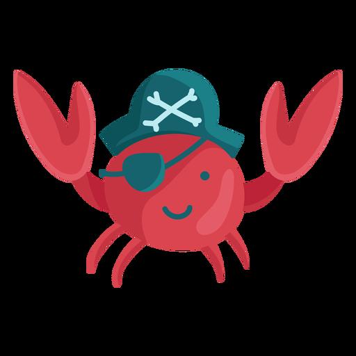 Lindo parche de pirata cangrejo