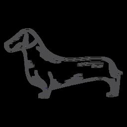 Trazo dibujado a mano de perro salchicha