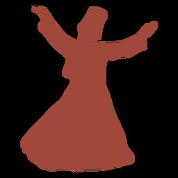 Derviche turco bailarina brazos silueta