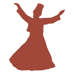 Dervish turkish dancer arms out silhouette