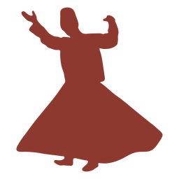 Dervish turkish dancer silhouette
