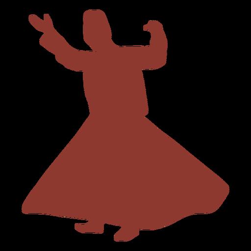 Dervish turkish dancer silhouette Transparent PNG