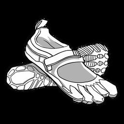 Detailed line toe slippers stroke
